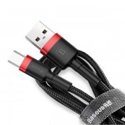 Baseus Cafule Cable USB For Type-C 3A 0,5м CATKLF-A91 Кабель USB Type-C Black-Red