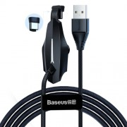 Baseus Colorful Sucker RPG Data Cable USB for Type-C 3A 1,2м CATXA-A01 Кабель USB Type-C Black