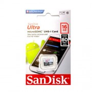 SanDisk Ultra MicroSDHC 16GB Class 10 UHS-1 80Mb/s